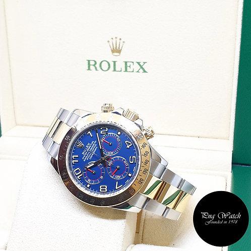 Rolex Oyster Perpetual 18K Half Gold Blue Arabic Daytona REF: 116523 (2013)