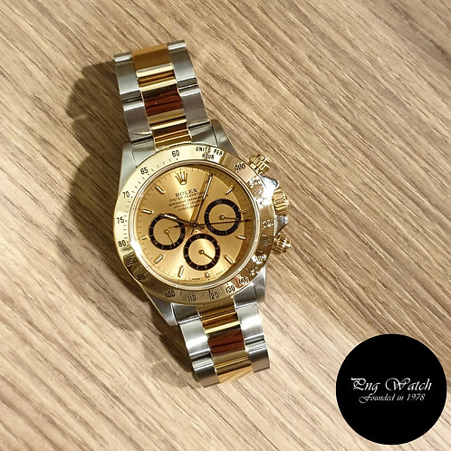 """Rolex 18K HG Champagne Indexes """"Inverted 6"""" Cosmograph Daytona REF: 16523 (2)"""