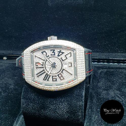 Franck Muller Vanguard Custom Pavè Diamonds Set REF: V45 SC DT