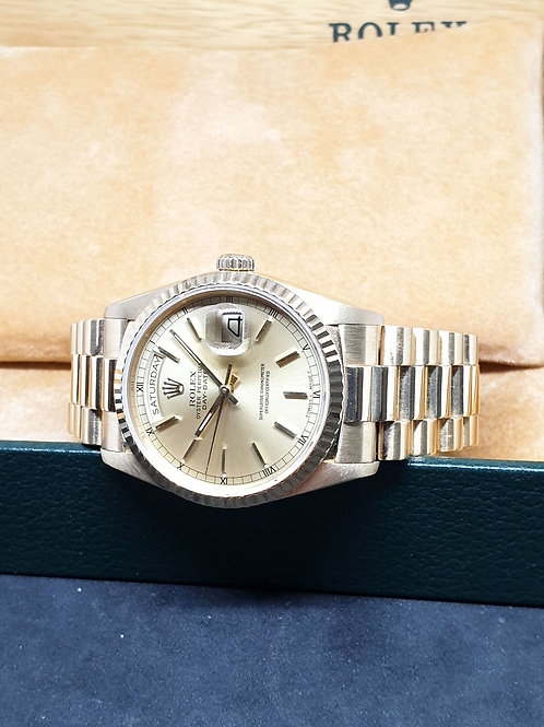 Rolex 18K Solid Yellow Gold Day-Date REF: 18238