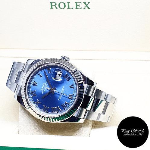 Rolex Oyster Perpetual 41mm Blue Roman Datejust REF: 116334 (AN Series)