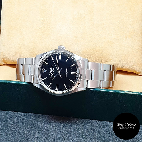 Rolex Oyster Perpetual 34mm Black Air-King REF: 5500