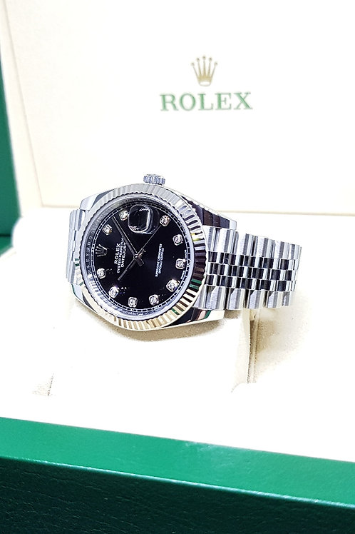Rolex Oyster Perpetual Black Diamonds 41mm Datejust REF: 126334