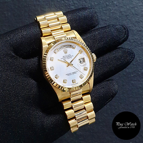 Rolex Oyster Perpetual 18K Yellow Gold MOP Diamonds Day-Date REF: 18238 (W)(2)