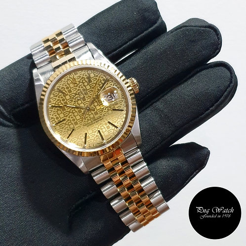 Rolex Oyster Perpetual 18K Half Gold Champagne Computer Datejust REF: 16233 (2)