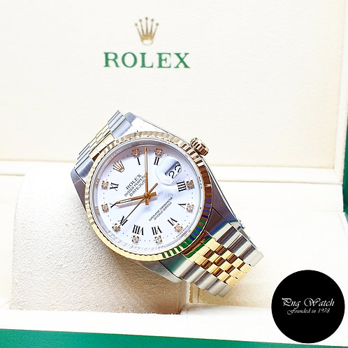 Rolex Oyster Perpetual White Roman Diamonds Datejust REF: 16233 (X Series)