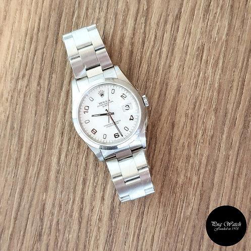 Rolex 34mm White Arabic Oyster Perpetual Date REF: 15200 (2)