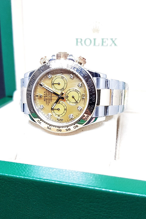 Rolex Oyster Perpetual Cosmograph Daytona with Yellow MOP and 8PT Diamonds REF: