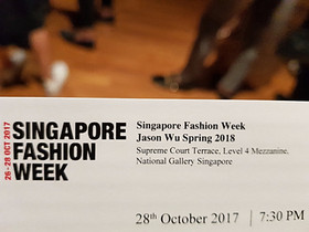 JasonWU 2017 Collection @Singapore Fashion Week