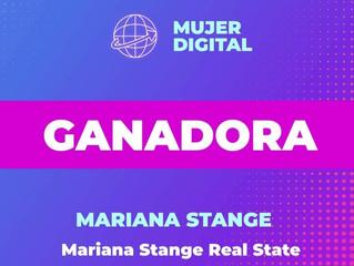 """Mariana Stange ganadora del """"Premio Mujeres Empresarias de la Ciudad 2020"""""""