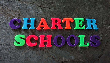 Charter Schools spelled out in colorful