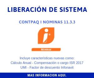 Liberacion de Sistema Contpaq Nominas 11.3.3