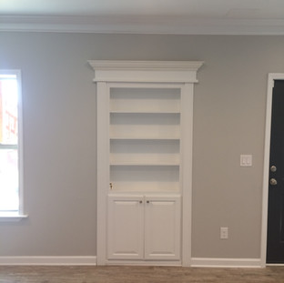 Basement hidden bookcase