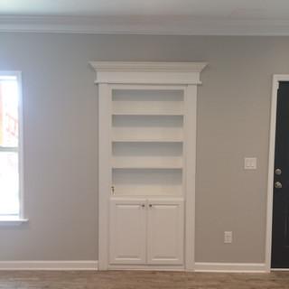 Basement hidden bookcase