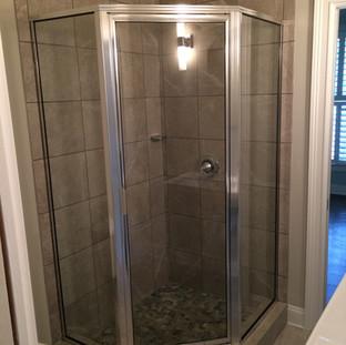 After, flooded shower