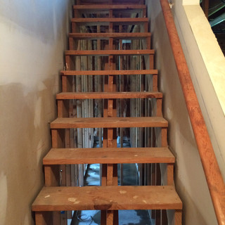 Before, basement stairs