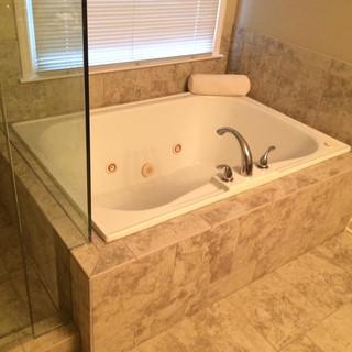 After, master tub