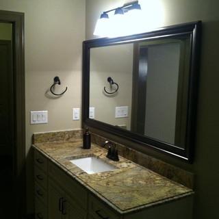bath cab and mirror