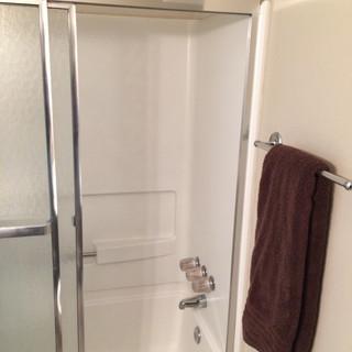 Before, secondary bath tub/shower