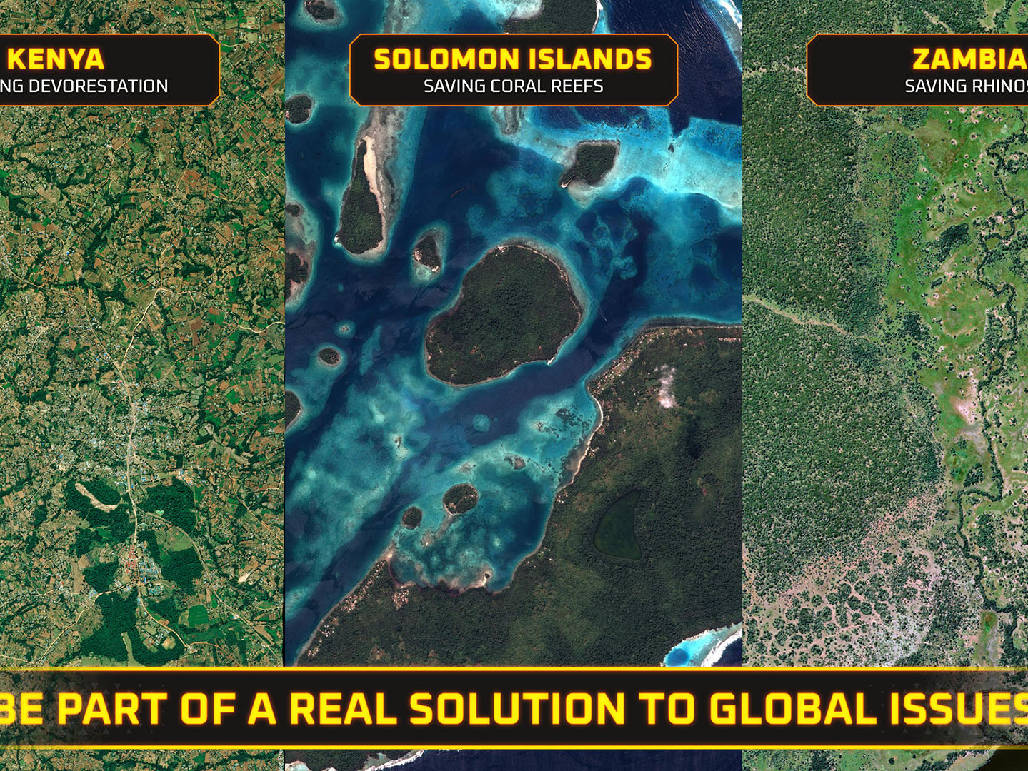 Be part of a real solution to global issues