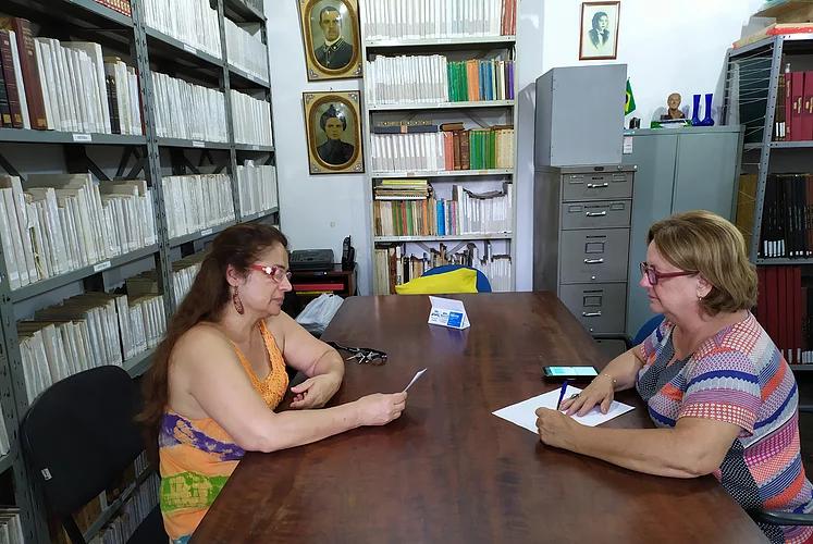 Reunião Ruth Rubbo e Lilian Vogel sobre o Projeto Mutirão