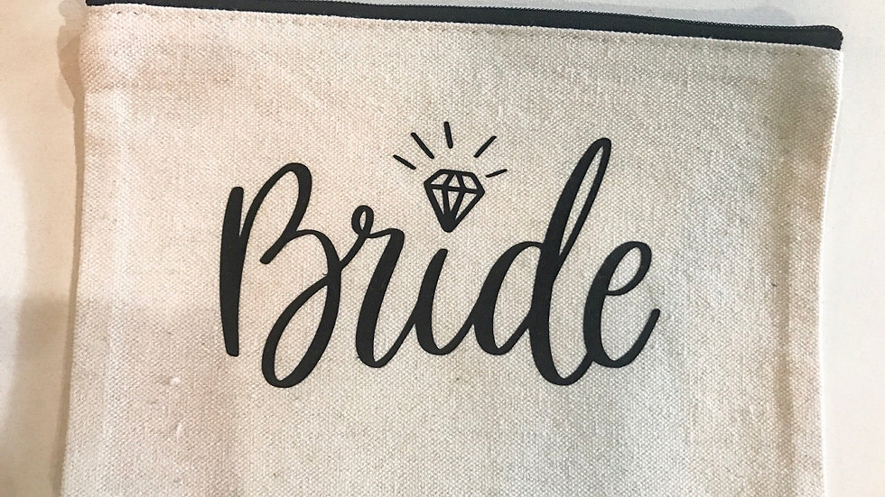 Personalized Bride Zip Pouch