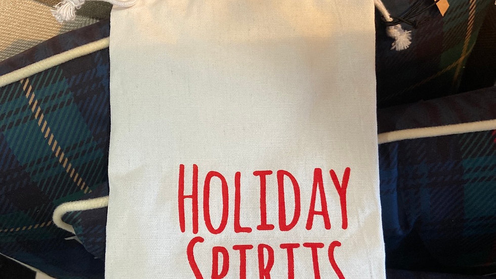 """""""Holiday Spirits"""" Wine Cover"""