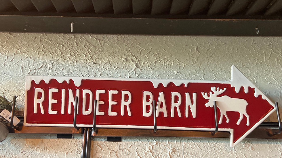 Reindeer Barn Sign