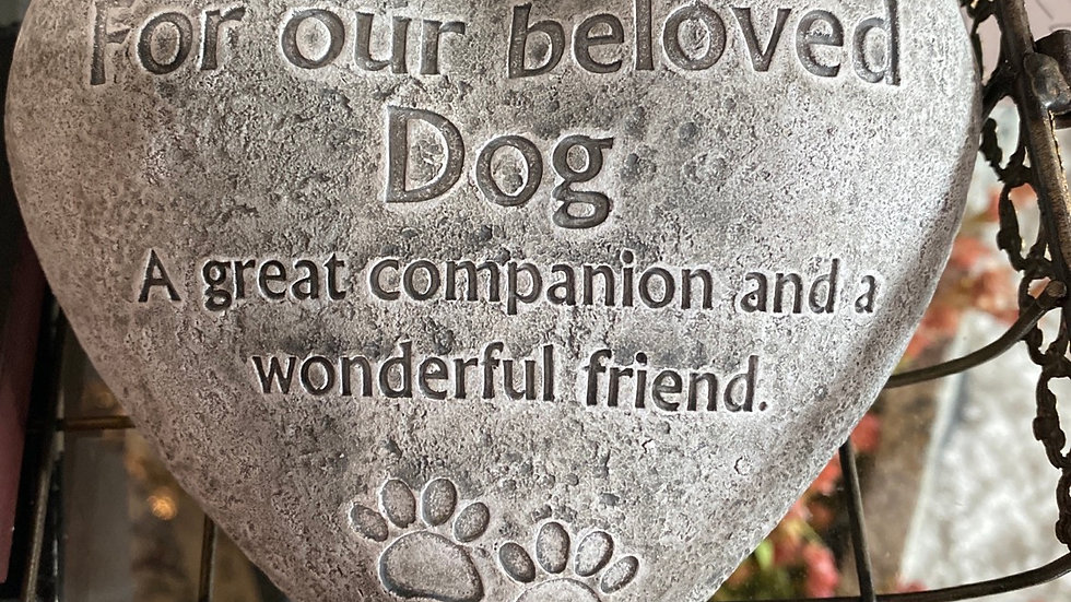 For our beloved Dog memorial stone