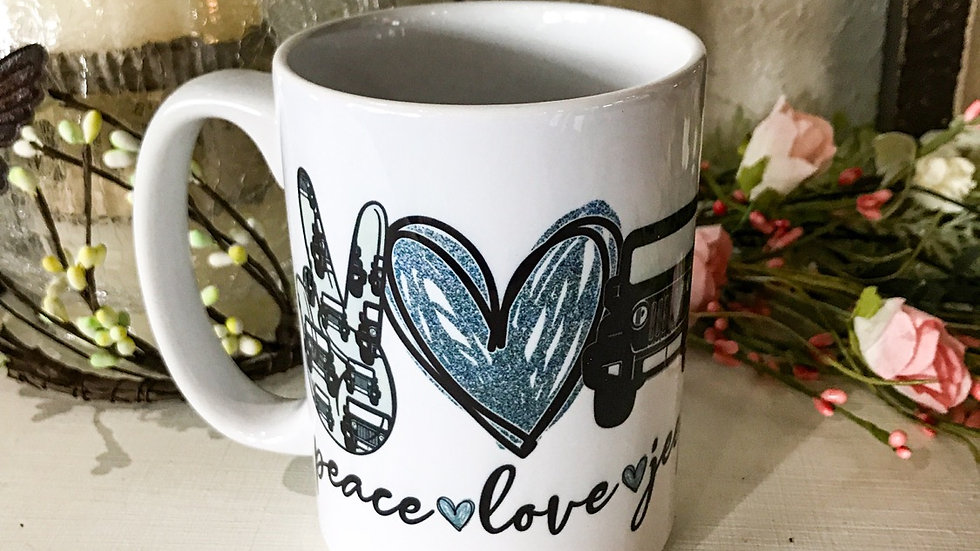 Peace•Love•Jeep Mug