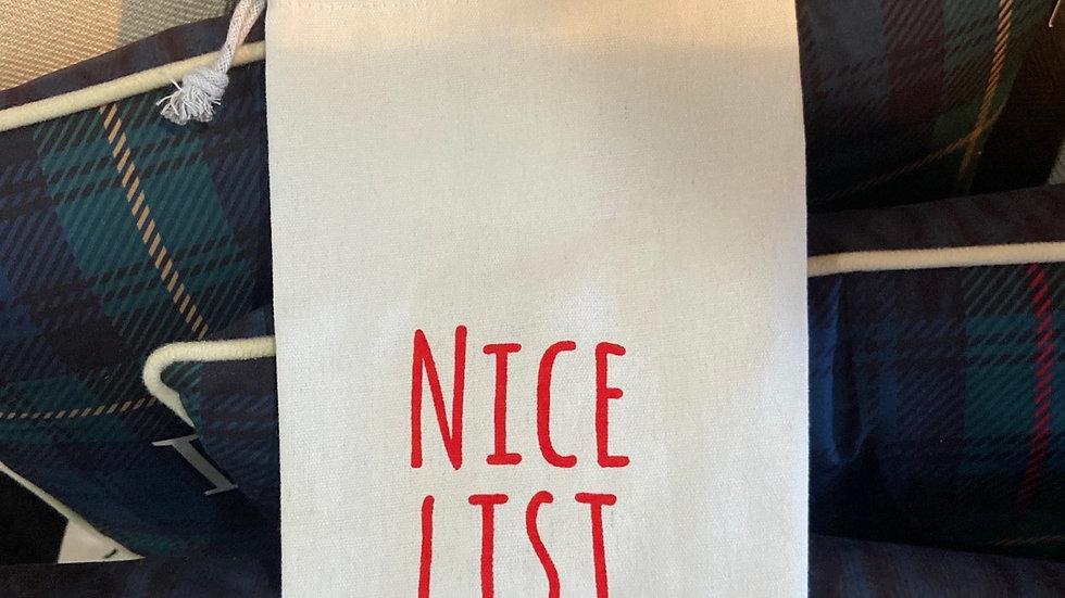 """Nice List"" Wine Cover"
