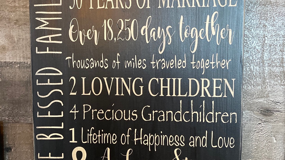 Anniversary Sign - Customized