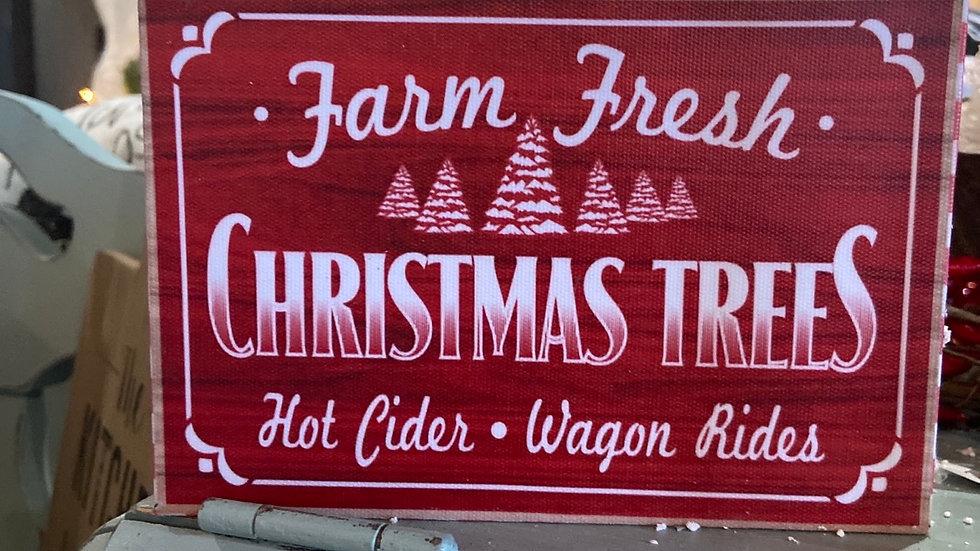 """""""Farm Fresh Christmas Trees"""" Sign"""
