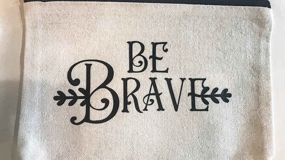 Personalized Be Brave Zip Pouch