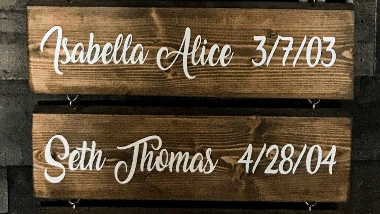 Grandchild Name Sign