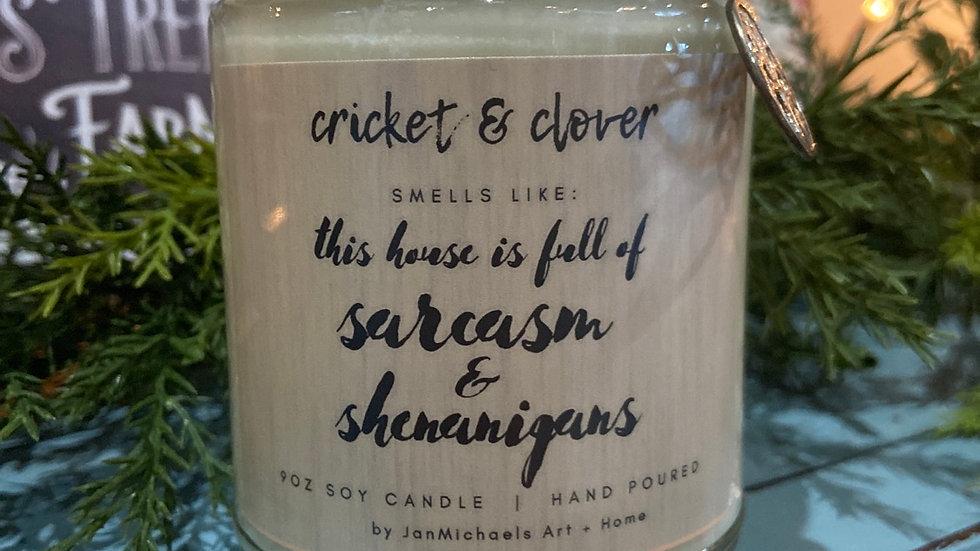 Sarcasm & Shenanigans Candle