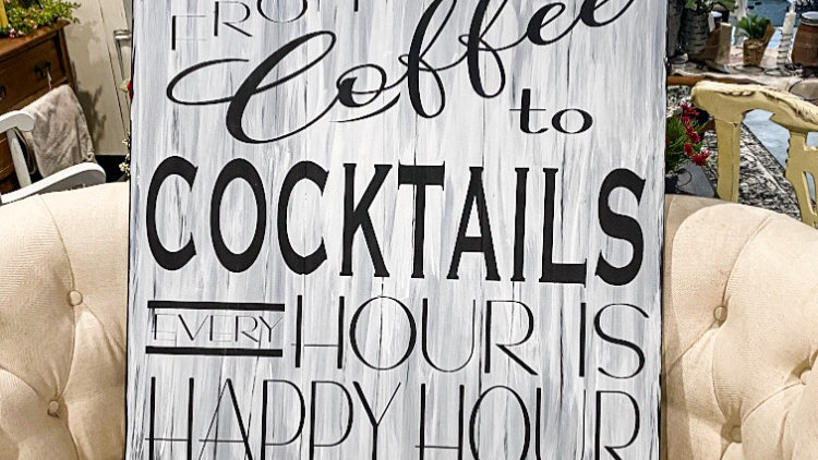 Every Hour Is Happy Hour Sign...