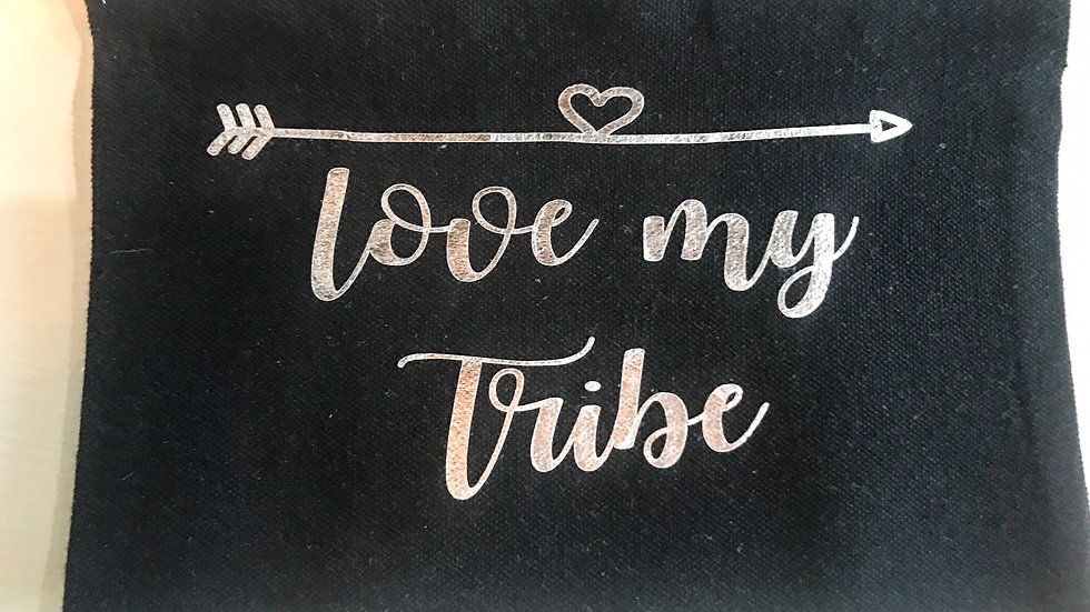 Personalized Love My Tribe Zip Pouch