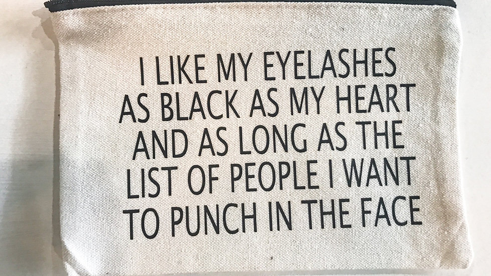 Personalized I Like My Lashes... Zip Pouch