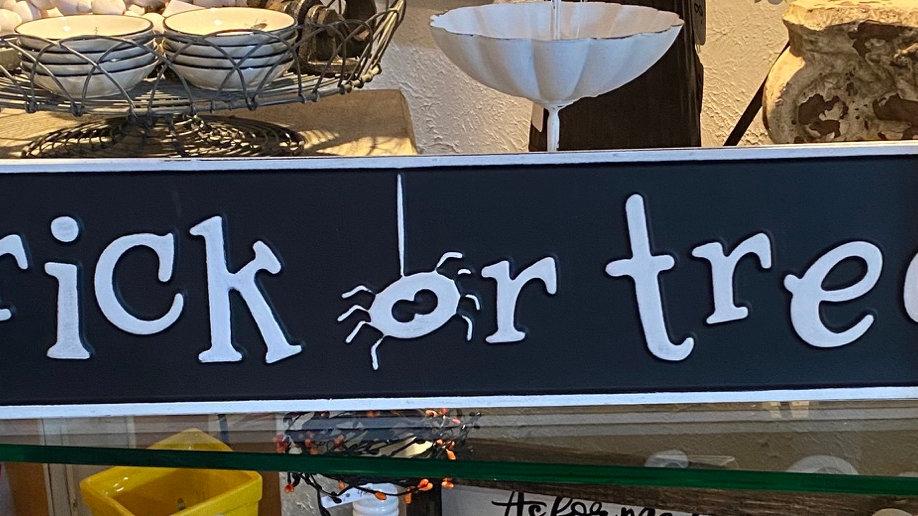Trick or Treat Metal Sign
