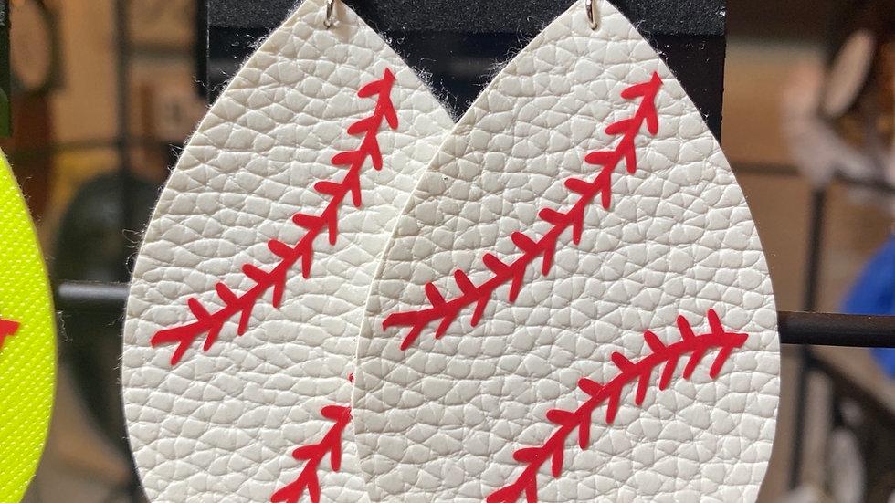 Baseball Teardrop Earrings