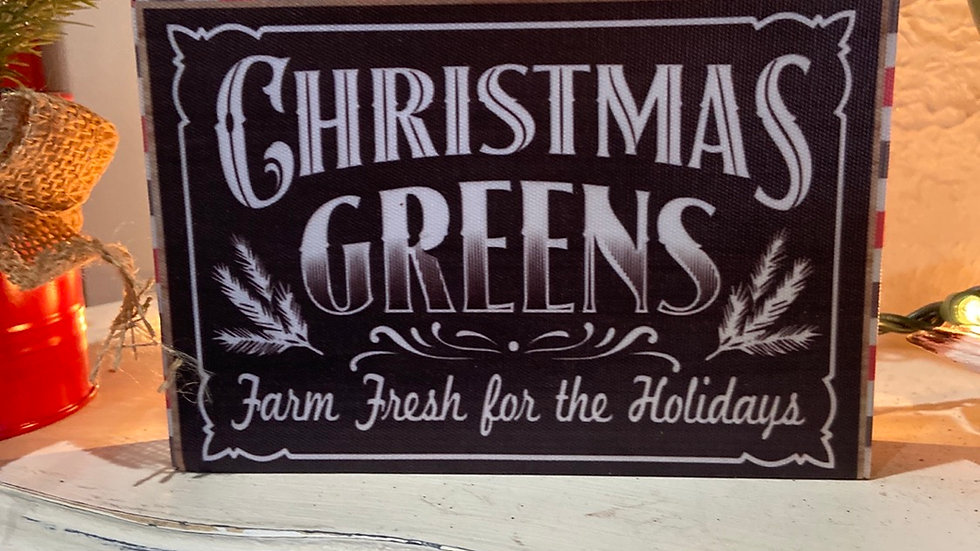 Christmas Greens Sign