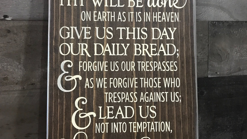 Our Father Prayer Sign