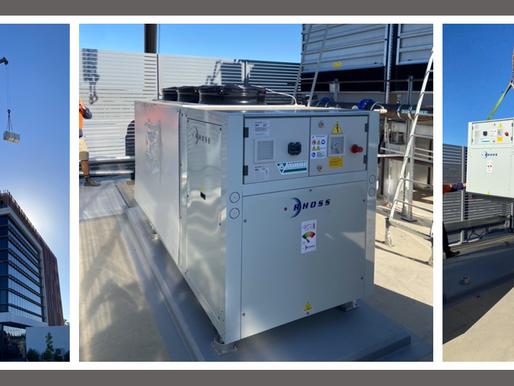 Another High efficiency – Eurovent Certified RHOSS chiller to NSW buildings top!