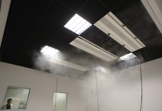 Chilled beams during test