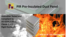 TechIN is proud to introduce to the Australian Market Pearl PIR Pre-Insulated Duct Panel