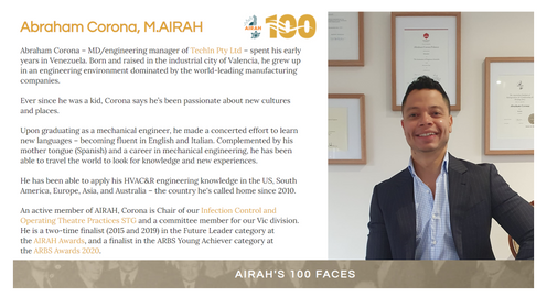Corona recognized as one of the AIRAH's 100 Faces!