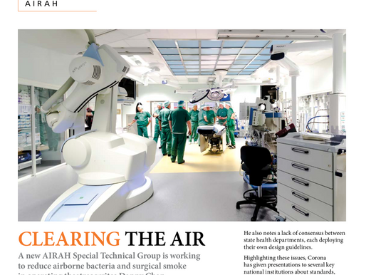 Clearing the air - An interview to the chair of the STG Infection Control and OT Practices