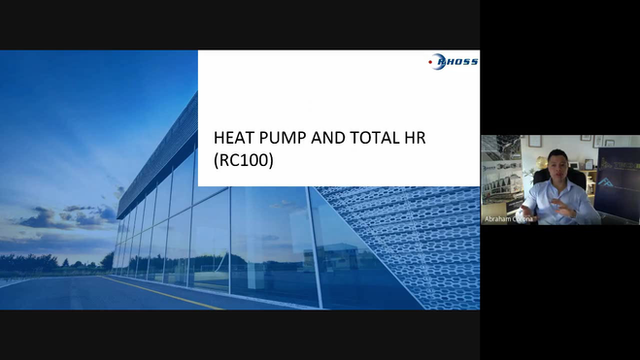 Webinar on RHOSS EXP 4 Pipes technology (polyvalent multipurpose heat pumps)