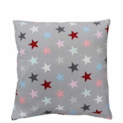 Kissenbezug, multi grey star